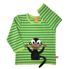 green/lime organic shirt with monkey