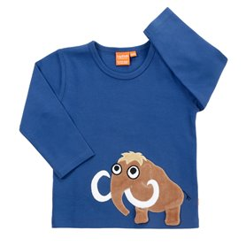 Dark blue shirt with mammoth