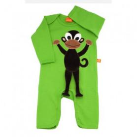 Grön jumpsuit med apa (stl 50)