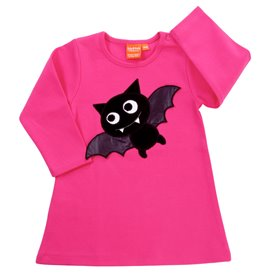 Cerise dress with bat